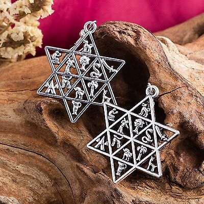 Jewish Star Of David Earrings Hebrew 12 Tribes Israel Magen Ethnic Jewelry