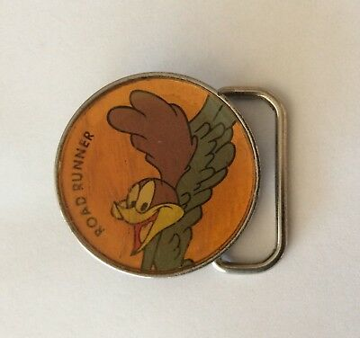Road Runner Round Animation Acrylic Vintage Built Buckle