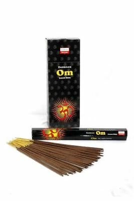 6 Box/Pack 120 Sticks total Darshan OM Quality Incense Fragrance