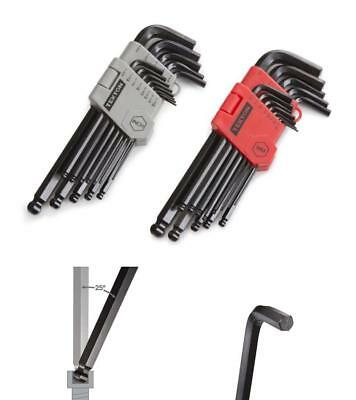 Hex Key Allen Wrench Tool Set Ball End Long Handle Arm Metric Inch SAE 26Pc US