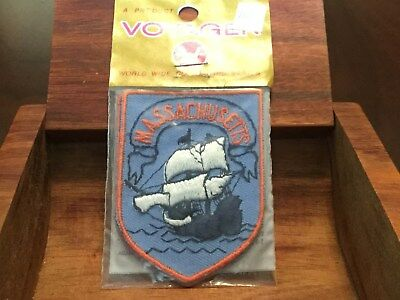 Massachusetts Vintage Voyager Brand NOS Patch Emblem Sealed Rare Free Shipping