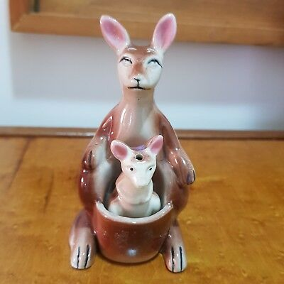 Vintage Kangaroo salt and pepper shakers