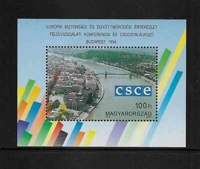 HUNGARY 1994 CSCE Security in Europe Conference Summit, mint mini sheet, MNH MUH
