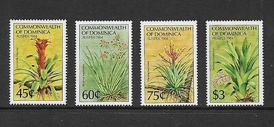 DOMINICA 1984 Ausipex 84, Flowers, mint set of 4, MNH MUH