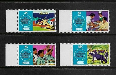 NIUE 1972 25th Anniv South Pacific Commission, No.2, mint set of 4, MNH MUH