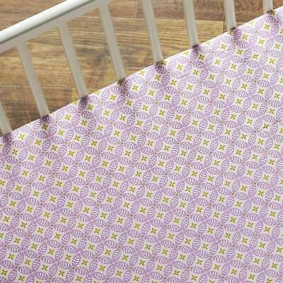 LOLLI LIVING by LIVING TEXTILES BABY COT FITTED SHEET - ORCHID TIGERLILY