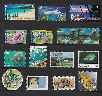 VANUATU mixed collection No.6, incl International Post, used