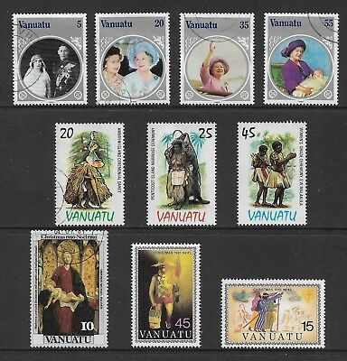 VANUATU mixed collection No.5, incl Queen Mother