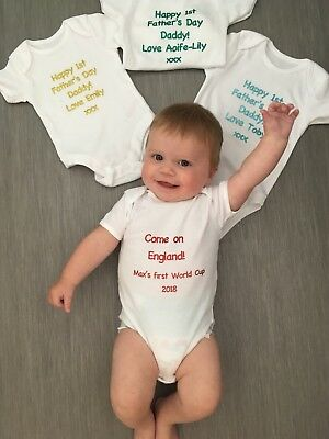 Personalised Baby Vest Grow Any Wording Cute Baby Gift
