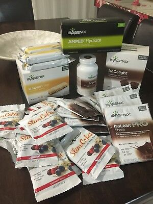 Bulk Lot Isagenix Isalean Pro Chocolate Lemon Bars SlimCakes Snacks Hydrate etc