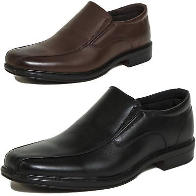 Men's Dress Shoes Leather Lined Slip On Loafers Good for Suit Jeans