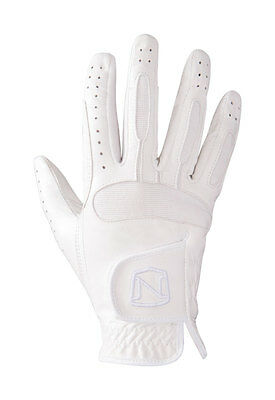 Noble Outfitters Show Ready Leather Glove White and Black Multi Size PR-12264