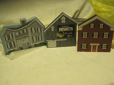 Cats Meow Village LOT OF 3-HENN OHIO CENTURY /BASKET BARN/JUSTICE OF THE PEACE