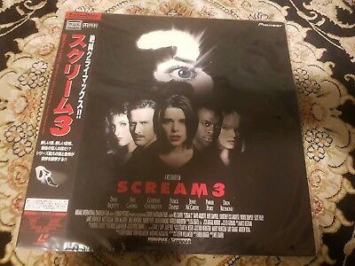 Scream 3 Laserdisc Sealed Very Rare Late Release 2000 PILF-2844 Laser Disc