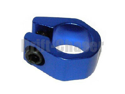 Old School Bmx Bike Tuff-Neck Style Alloy Seat Post Clamp, Size 25.4mm, Blue