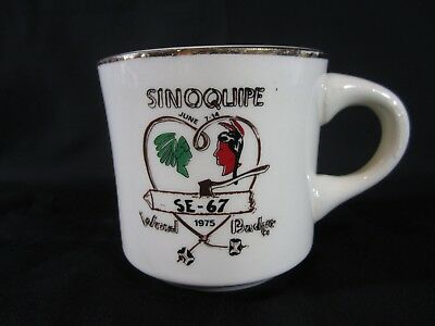 Boy Scout Sinoquipe June 7 -14 1975 Wood Badge SE-67 Coffee Cup Mug