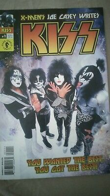 Kiss #1 Comic (2002, Dark Horse) Photo cover Rock & Roll HOF members.