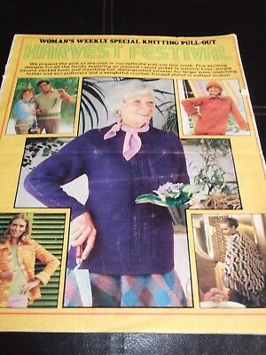 Vintage Knitting Pattern Harvest Festival From Womans Weekly
