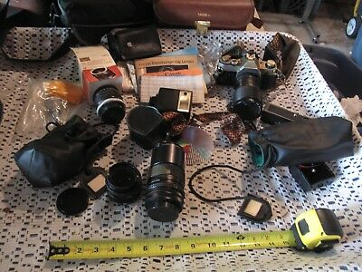 Vintage Camera  - AE-1 CANON plus LOT of Accessories Extra Lens & Converter Lens