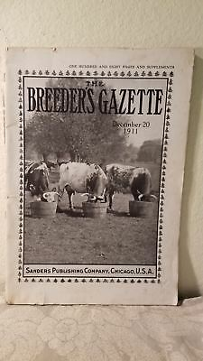 The Breeder's Gazette Dec. 20, 1911 Sanders Publishing