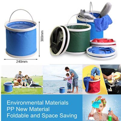Outdoor Folding Collapsible Silicone Bucket Camping Fishing Travel Hiking