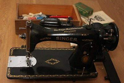 Antik SINGER Nähmaschine 1591 BJ 1942 Original Zubehör,BD,.. Made in Canada- TOP