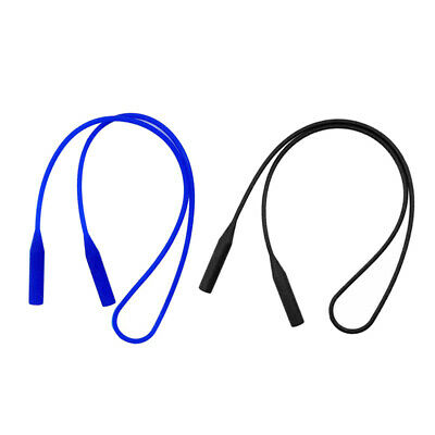 2pcs Silicone Eyeglass Neck Strap Glasses Sunglasses Cord Holder Retainer