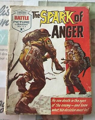 BATTLE PICTURE LIBRARY NO.52 Dated 1962 GOOD FOR AGE VERY RARE 56 Yrs Old