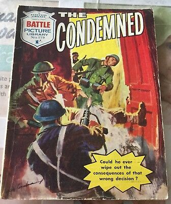 BATTLE PICTURE LIBRARY NO.179 Dated 1962 GOOD FOR AGE VERY RARE 56 Yrs Old