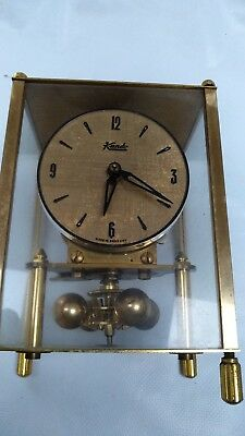 Kundo Pendulum Clock 400 Day Wind Up Clock Brass Square Vintage Antique Old