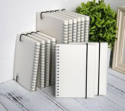 A5 A6 Spiral Book Notebook Lined Grid Paper Journal Diary Sketchbook For School