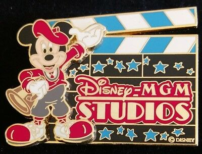Disney WDW MGM Studios Logo Mickey Mouse Director Clapboard Action Pin 47529