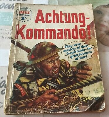 BATTLE PICTURE LIBRARY NO.10 Dated 1961 GOOD FOR AGE VERY RARE 57 Yrs Old