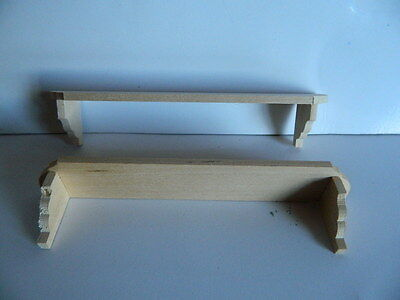M8.13 1//12th scale DOLLS HOUSE TWO WOODEN WALL SHELVES