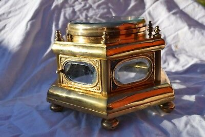 antique fusee table  brass  clock case  ???