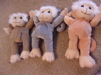 Precious Moments Tender Tails Monkeys Set Of 3 1998 Limited Edition