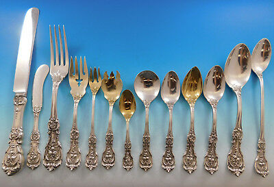 Francis I Reed & Barton Old Sterling Silver Flatware Set Service 173 pc Dinner
