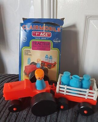 Old Vintage Clairbois 70 S Toys Tractor Farm Fisher Price 14 99