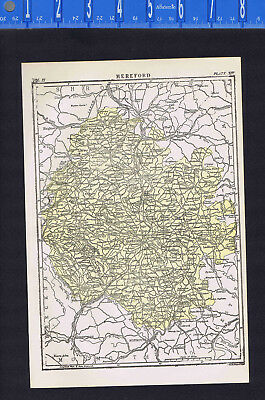 Cathedral City of Hereford in England - Map Print -- 1907