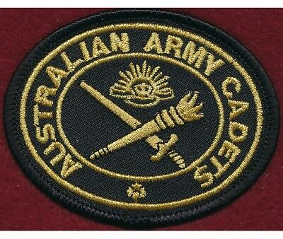 """Australian Army Cadets """"Biscuit""""  (Gilt/Black) Militaria Patch"""