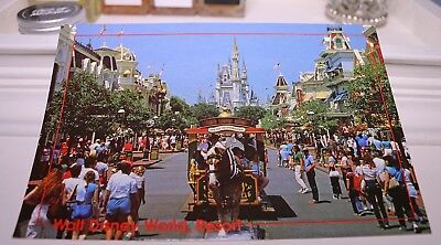 Vintage Walt Disney World Resort Postcard NEW Main Street America Ephemera Card