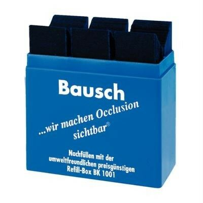"Bausch .008"" (200 Microns) Blue Articulating Paper Strips 300 Strips W/dispenser"