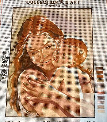 MOTHER AND BABY - Tapestry/Needlepoint to Stitch (NEW) by COLLECTION D'ART