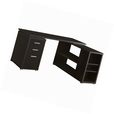 Monarch Specialties Hollow Core Left Or Right Facing Corner Desk Cappuccino