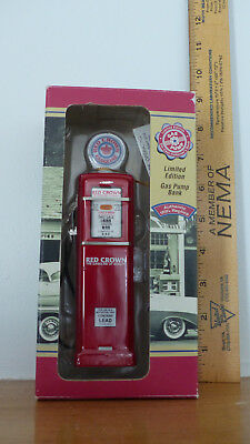 RED CROWN GAS PUMP BANK-LIMITED EDITION - AUTHENTIC 1950s REPLICA - MINT IN BOX