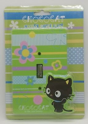 New Vintage 2006 Sanrio Chococat Green Wood/Wooden Light Switch Plate/Cover RARE