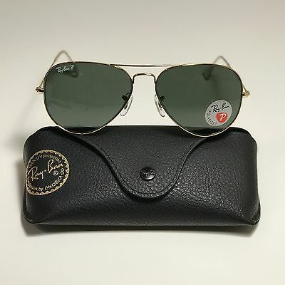 274b7b232 NEW RAY-BAN AVIATOR Classic Gold RB3025 001/58 58-14 58mm POLARIZED ...