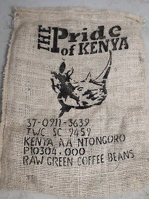 Hessian Sack Kenyan RHINO Coffee Bag  (3 pk Special NOW ON)