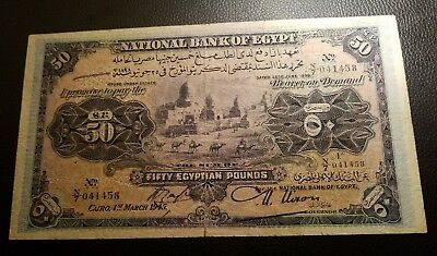 egypt law 1898, 1945 50 pounds scares