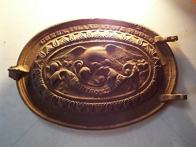 Antique J Morrison, Troy NY cast iron oven door with American Eagle 1840s
